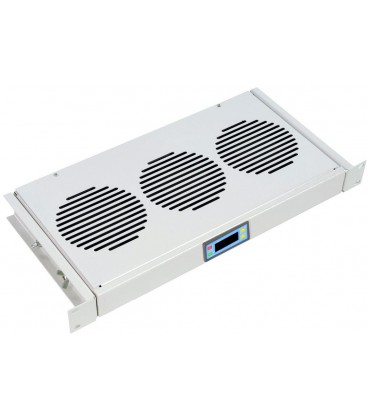 "Модуль вентиляторный 19"" 1U, 3 вент., регул. глубина 190-230-280 мм с контролером"