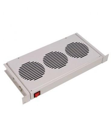 """Модуль вентиляторный 19"""" 1U, 3 вентилятора, регулируемая глубина 200-310 мм с датчиком 35С"""