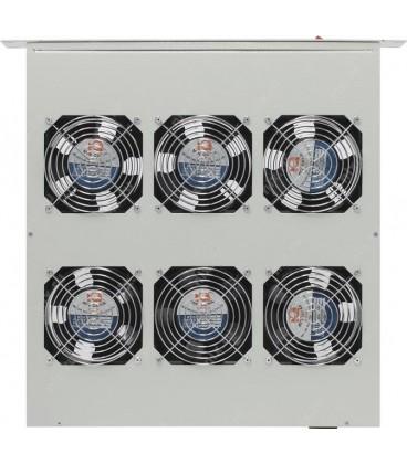 """Модуль вентиляторный 19"""" 1U, 6 вентиляторов, регулируемая глубина 390-750 мм без датчика температуры, с выкл."""