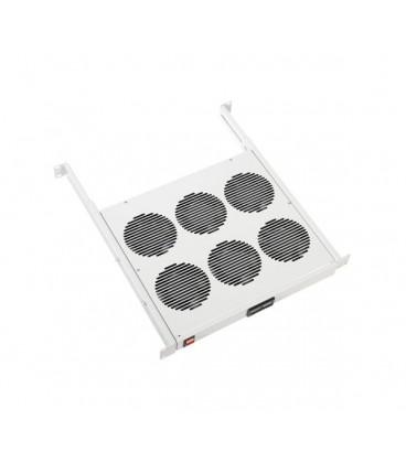 """Модуль вентиляторный 19"""" 1U, 6 вент., регулируемая глубина 390-750мм, контроллер температуры"""
