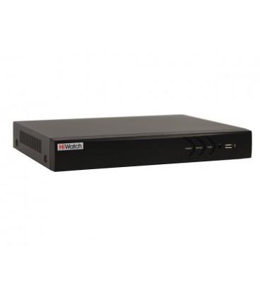 HiWatch DS-N308/2P(B) 8-ми канальный IP-регистратор c 8-ю PoE интерфейсами
