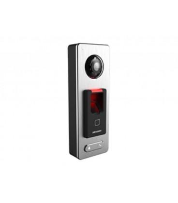 DS-K1T500SF Терминал доступа со встроенными считывателеми Mifare карт, отпечатков пальцев и 2Мп камерой